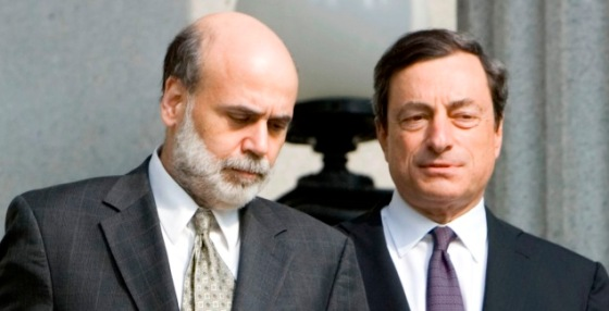 Ben Bernanke e Mario Draghi