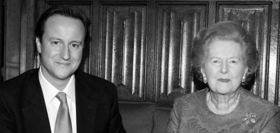 Cameron meets Thatcher